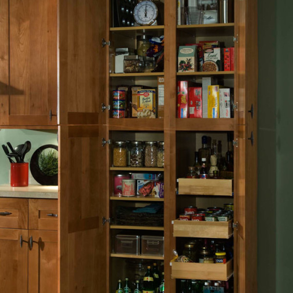 Utility Pantry Cabinet With Roll Out Drawers My